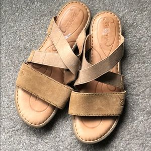Born slide leather sandals